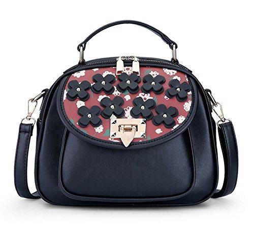 La mujer Xinmaoyuan Bolsos Bolso de moda femenina deducción Flores rotas de paquete pequeño cuadrado bolsa Rojo