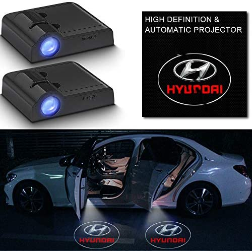Wireless Car Door Logo LED Lights Compatible with Hyundai Universal Welcome Lamp Ghost Shadow Lights HD Emblem Symbol Courtesy Light (forHy undai)