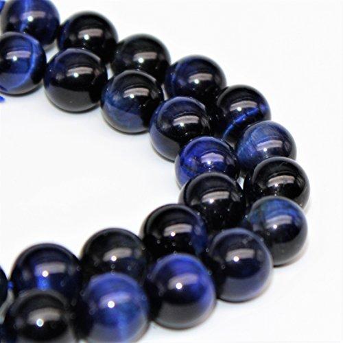 Blue Tiger's Eye Gemstone Loose Beads 8mm 46 Beads Per 15.5
