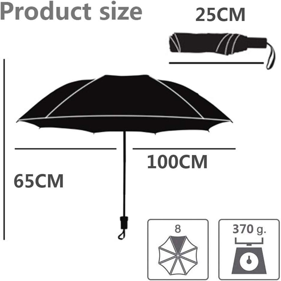 Parapluie Pliable /à Main l/éger Innovation Parapluie de Voyage Compact /à l/épreuve du Vent pour Homme et Femme A 100cm