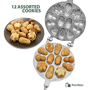 Mushroom Maker 10 PC cookies oreshnitsa 130 AV pastry maker