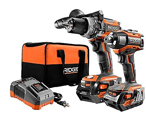 RIDGID R96172 Gen5x 18V Lithium-Ion Brushless Cordless Hammer Drill and Impact Driver Kit