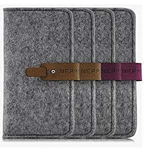 GHK - Neppt Felt Material Cover Flip Case for iPhone 5/5S(Assorted Colors) , Brown