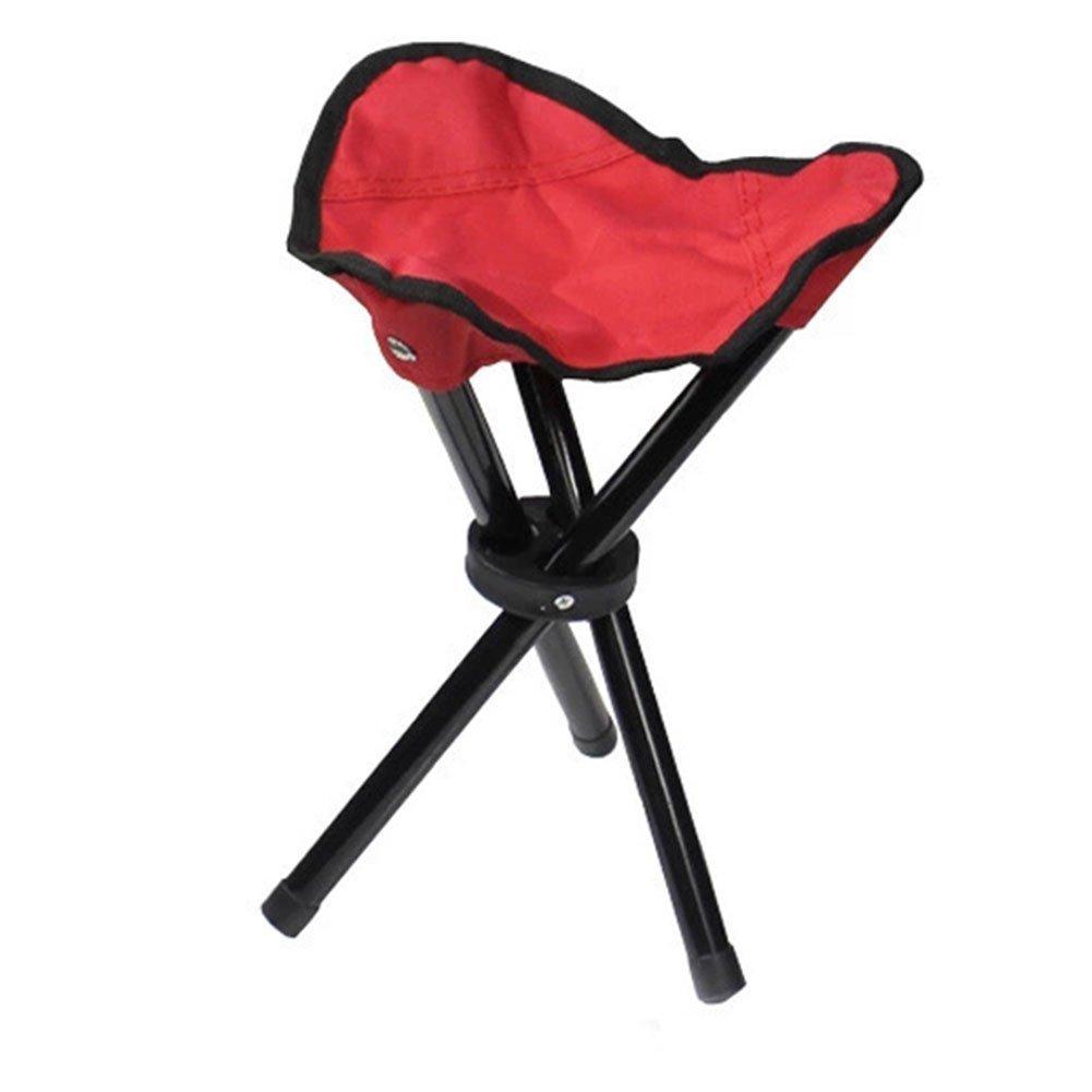 nacolaアウトドア椅子キャンピング三脚スツール折りたたみ椅子Fold釣り折りたたみ式ポータブル釣りメイトFold椅子Ultralight椅子 B073XKRJ6L  レッド