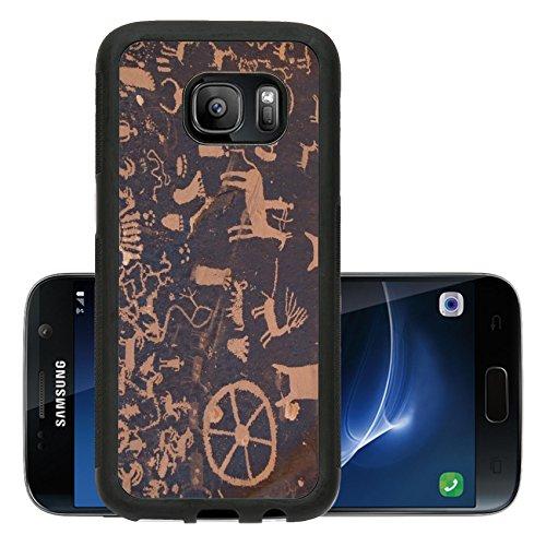 (Luxlady Premium Samsung Galaxy S7 Aluminum Backplate Bumper Snap Case IMAGE ID 5883079 Native American petroglyph Newpaper Rock Utah)