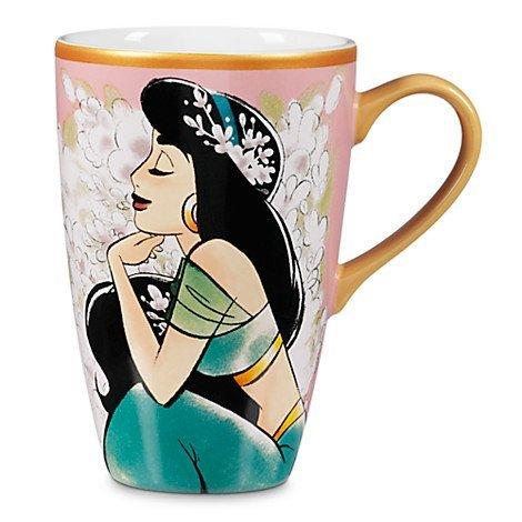 Disney Store Aladdin Art of Jasmine Mug - Pink (Disney Magic Princess Cups)