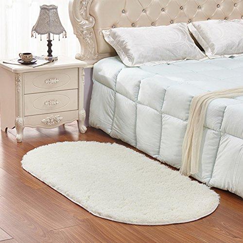 Noahas Ultra Soft 4.5cm Velvet Bedroom Rugs Kids Room Carpet Modern Shaggy Area Rugs Home Decor 2.6' X 5.3', Creamy (Girls Cream Bedroom Furniture)