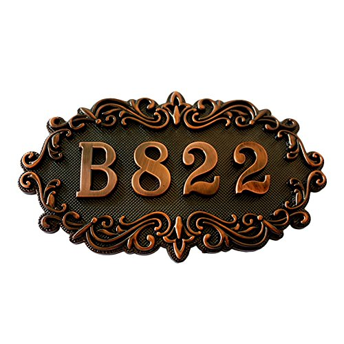 (Aspire Customized Home Address Sign, House Hotel Number Sign, Address Plaque Sign, Small Size, Aprox 4.3