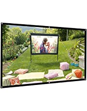 $26 » Bomaker Projector Screen, 100 inch Projection Screen 16:9 HD Foldable Anti-Crease Portable Washable Projector Screen, Ideal for Home Theater Outdoor Indoor Support Double Sided Projection