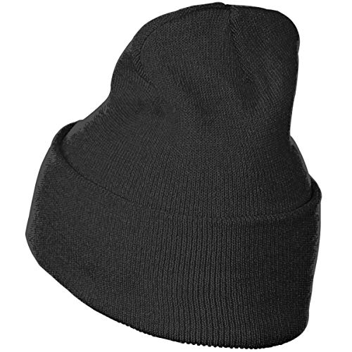 Horizon-t Black Unisex 100/% Acrylic Knitting Hat Cap Fashion Beanie Hat