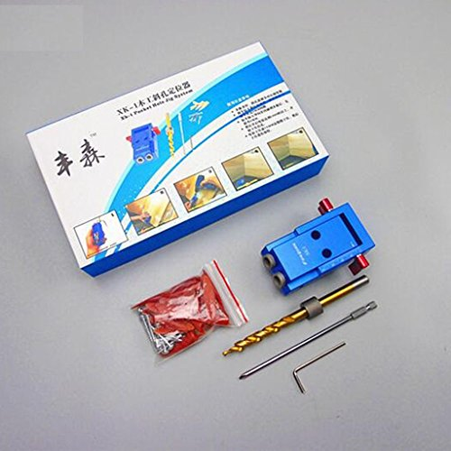 Baoblaze Mini Pocket Slant Hole Jig Kit +Step Drilling Drill Bit Tool WoodWork Tool by Baoblaze (Image #8)