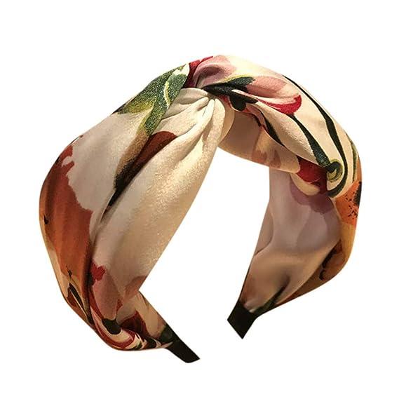 Damen Blume Knoten Breit Haarreif Haarband Stirnband Haarschmuck Kopfschmuck