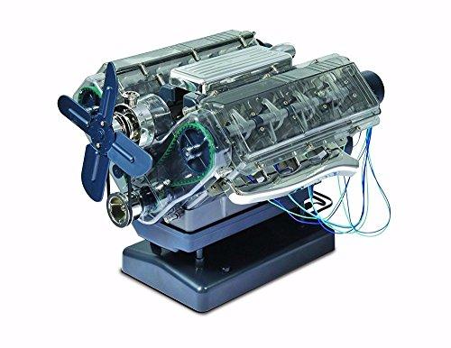 Fan Agricultural Box (VISIBLE V8 internal combustion OHC engine motor working model Haynes Kit box New)