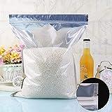 FidgetFidget Bags Reclosable Zip Lock Aluminum Foil Plastic Pouches35x50cm (13.7x19.6)