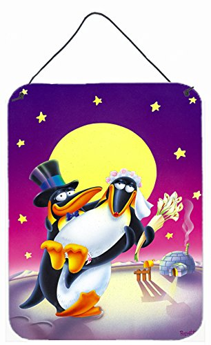 Carolines Treasures Just Married Wedding Penguins Wall or Door Hanging Prints APH0244DS1216 16 x 12 Multicolor