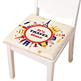 Only Faith 15.75inches Square Chair Cushion Pads Tree Printing Home Mat (circle)