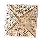10x Beige Square Laser Cut Wedding Invitations Cards with Lace Sleeve Lace Flowers Engagement Birthday Bridal Shower Baby Shower Graduation Party Favors(set of 10pcs)