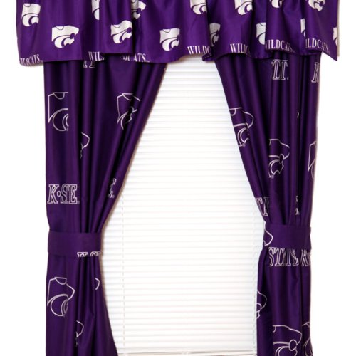 NCAA Kansas State Wildcats Curtains Long Collegiate Drapes