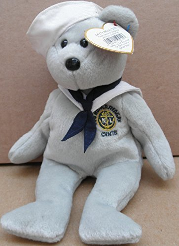 Teddy Navy Bear (TY Beanie Babies Ronnie the Sailor Bear Plush Toy Stuffed Animal - U.S.S Ronald Reagan CVN76)