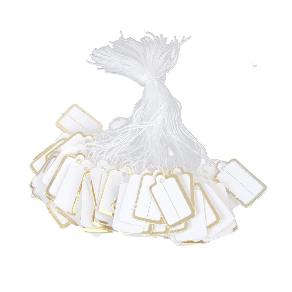 Etiquetas de marca de regalo de papel de Aeromdale Ensartadas Joyer/ía de precio Etiquetas de exhibici/ón de ropa Etiquetas Ta500 Etiquetas de precio para joyer/ía Objetos de oficina Presente