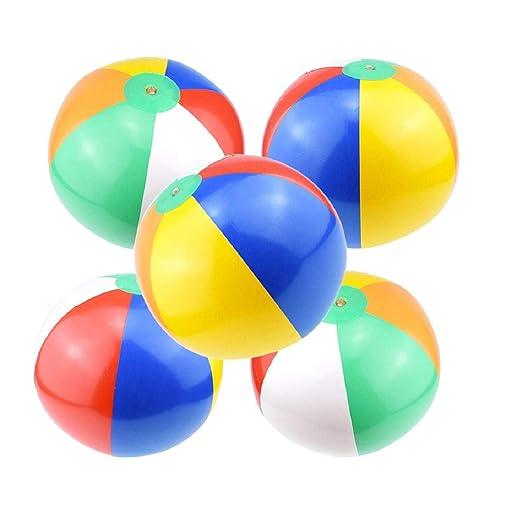 Koojawind 5 Paquetes de Pelotas de Playa, Juguetes inflables de ...