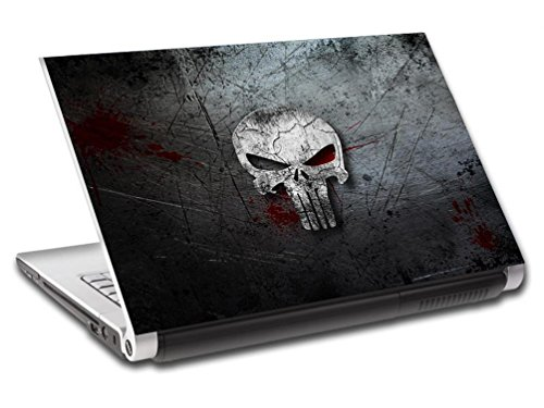 The Punisher Skull Logo Personalized LAPTOP Skin Vinyl Decal Sticker NAME L116 - 15.6