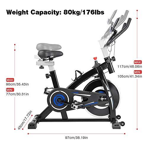 Fafrees Cyclette, Spinning Bike, Cyclette per Fitness, Manubrio e Sedile Regolabili per Persone di diversa Altezza (Blu)