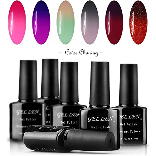 Gellen Color Changing UV Gel Polish Assorted 6 Colors