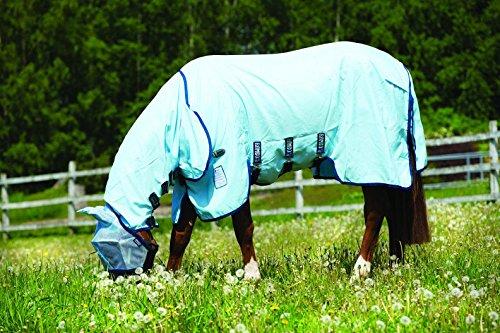 Horseware Rambo Sweetitch Hoody Vamoose Ekzemerdecke mit Gesichtsmaske Baby Blue/Navy 115-165