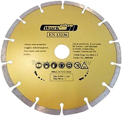 /Diamante dischi da taglio Incluso 20/mm Anello riduttore Rio nntm Disco diamantato 180/mm x 1.6/mm x 5/mm x 22.23/mm EN13236/