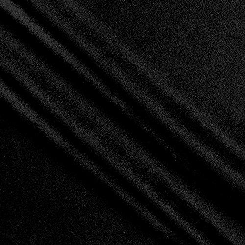 [해외]벤 텍 스타일 로얄 벨벳 블랙 패브릭 바이 더 야드 / Ben Textiles Royal Velvet Black Fabric by The Yard
