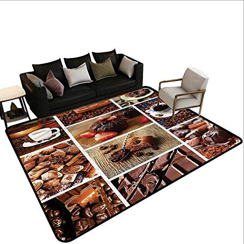Brown,Bedroom Living Room Area Rug 80