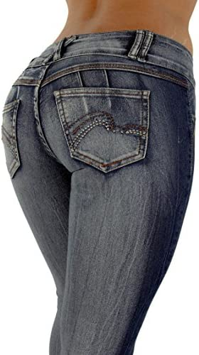 Estilo FV7–91111s–diseño, Butt Lift, levanta cola Colombiano, skinny jeans