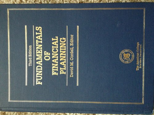 Fundamentals of Financial Planning (Huebner School series)