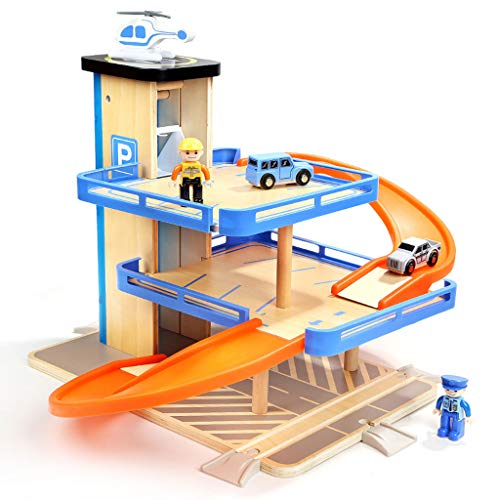 ZYN Children's Educational Toys Wooden Subway Car Parking Lot Toy Set 1-6 Years ()