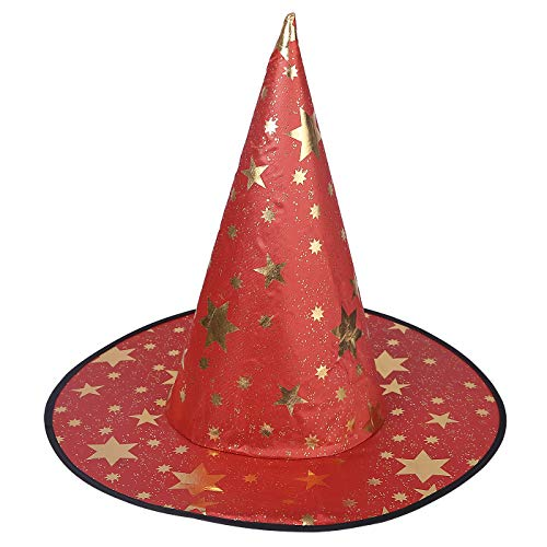 HDE Witch Hat Halloween Costume Cosplay Wicked Witch Accessory Adult One Size (Red)