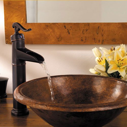 Volvey Bathroom Sink Faucets Oil Rubbed Bronze Waterfall Widespread Single  Handle Single Hole Vessel Lavatory Faucets Discount Plumbing Fixtures High  ...