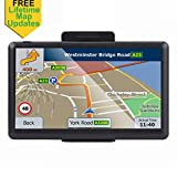Car GPS, 7 inch Portable 8GB Navigation System for Cars, Lifetime Map Updates, Real Voice Turn-to-Turn Alert Vehicle GPS Sat-Nav Navigator, On-Dash Mount