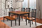 East West Furniture NICO6-BLK-W 6-Piece Dining Table Set Review