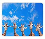 ABin Five Giraffes Mouse pad Mouse pad Mouse pad mice pad Mouse pad The Office mat Mouse pad Mousepad Nonslip Rubber Backing