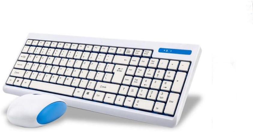 VEEKI - Teclado inalámbrico ultrafino 2,4 G con teclado ...