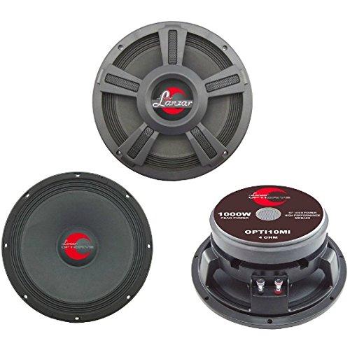 LANZAR OPTI10MI OPTI 10MI medio basso mid woofer 25,00 cm 10 250 mm di diametro 500 watt rms 1000 watt max x spl diffusore x voce per porte e portiere auto casa impeNenza 4 ohm