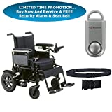 Drive Cirrus Plus EC Folding Power Wheelchair, 18'' Seat & FREE 130 dB Silver Personal Safety Alarm/Siren! + Black Belt!