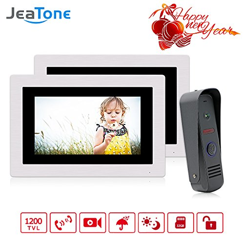 Jeatone 7 Inch Video Door Phone Doorbell Wired Intercom Systems for ...