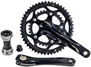 SORA FC-3550 9 Speed Bike Crankset Power Torque System with Bottom Bracket, 50-34T CHAINWHEEL Set 170mm Hollow