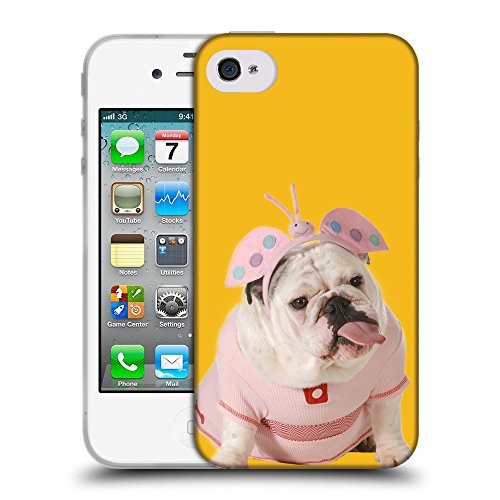 GoGoMobile Coque de Protection TPU Silicone Case pour // Q05800602 Bulldog anglais Ambra // Apple iPhone 4 4S 4G