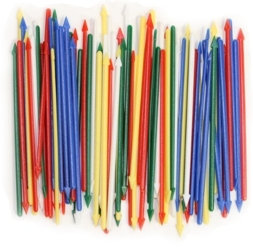 Pack of 200 Colorful Cocktail Spears, Plastic, Assorted Colors, 3.25
