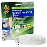 Duck Brand 282433 Heavy-Duty Self Adhesive Rubber Weatherstrip Seal for Large Gap, 3/8-Inch x 1/4-Inch x 17-Feet, 1 Seal