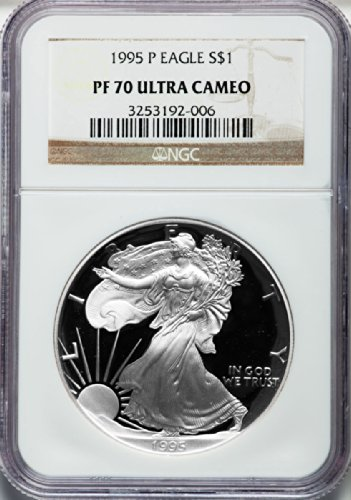 1995 P American Silver Eagle Dollar DCAM NGC PF70