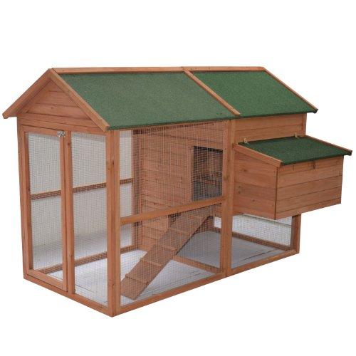 Pawhut Wooden Backyard House Chicken